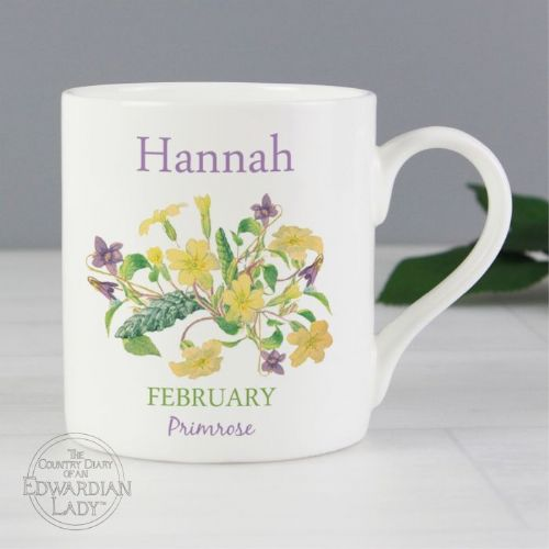 Country Diary 'February Flower Of The Month' Balmoral Mug